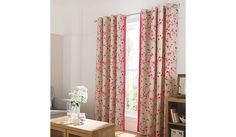 Buy George Home Pink Floral Curtains With Contrast Edge From Our Curtains  Rangeu2026