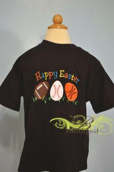 Boys Sports Easter Shirt #2014 #easter #egg #shirt www.loveitsomuch.com