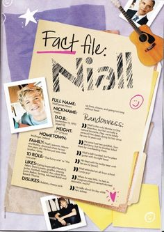 Fact File Niall<< I already knew everything hahah