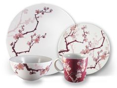 Ink Dish - Cherry Ink 4 Piece Set,  Designed by Paul Timman and manufactured by Ink Dish; from 2modern.com