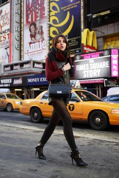 Street style, love the boots. New York city