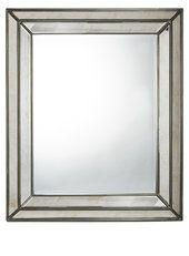 Antique bevelled border mirror 76x92cm