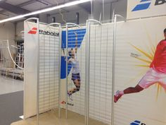 Tension fabric booth with slat grid www.xibeo.com 805.604.4409