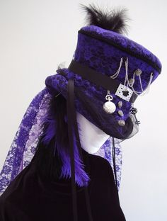Purple Lace top hat Ameth's Wedding Mad Hatter