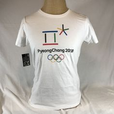 purchase cheap b9e5c eca17 PyeongChang T-Shirt Winter Olympics Games 2018 Logo White XL South Korea   FTOApparel