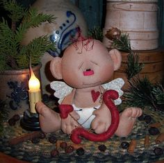 Image detail for -Primitive Raggedy Andy Cupid Valentine Vtg Baby Style Doll Patti's ...