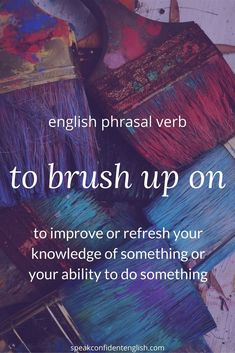 Phrasal verbs, #learnEnglish