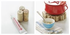 DIY Cork Coasters: Coasters are so necessary, especially when you handle hot objects and this cork coaster is very easy to do. Wine Cork Projects, Wine Cork Crafts, Fun Projects, Upcycling Projects, Cork Trivet, Cork Coasters, Wine Bottle Corks, Cork Art, Diy Gifts