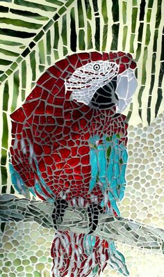 Red Parrot by KikaMosaicDesign on Etsy