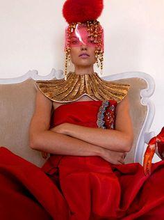 Farah Holt in Schiaparelli Couture by Christian Lacroix by Baldovino Barani 2013