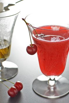 Sour Cherry Absinthe Cocktail