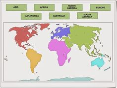 HS-G 4 The student will develop map skills by (SOL a) locating the equator, the seven continents, and the five oceans on maps and globes; 3rd Grade Social Studies, Social Studies Classroom, Social Studies Activities, Teaching Social Studies, Teaching Geography, World Geography, Teaching Science, Social Science, Teaching Maps