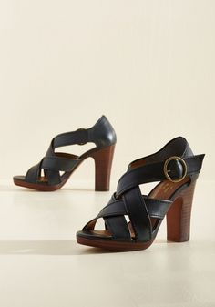 Route Leather Heel. Upon acquiring these leather heels from Seychelles, you map out exactly where you want to debut them. #black #modcloth