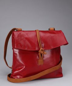 Loving this Nino Bossi Red Convertible Crossbody Bag on #zulily! #zulilyfinds