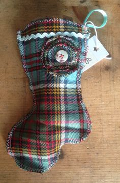 Wee Tartan Stocking - perfect for that little box from Tiffany x