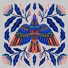 Bird Illustration art by Carmi Grau via Art And Illustration, Vogel Illustration, Illustrations, Kunst Inspo, Art Inspo, Cactus Drawing, Posca Art, Art Graphique, Art Blog