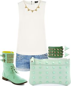 """""""stud / contest"""" by jorgelina2012 ❤ liked on Polyvore"""