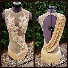 """124 Likes, 11 Comments - @dancerscreation on Instagram: """"The combination of cream lace and pearls make an elegant statement for this lyrical costume…"""""""