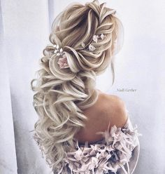 40 Super Cute Wedding Hairstyles For Your Biggest Day - beautiful hair styles for wedding Wedding Hairstyles For Long Hair, Wedding Hair And Makeup, Bride Hairstyles, Bridal Hair, Hair Wedding, Hairstyle Ideas, Hairstyle Wedding, Pretty Hairstyles, Cute Hairstyles For Prom