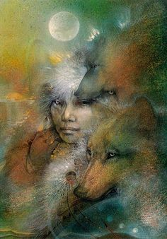 Image detail for -art # mystical art # wolves