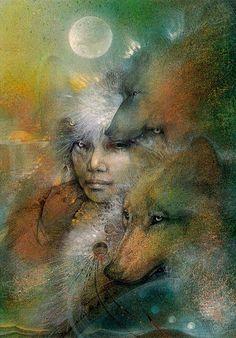 Image detail for -art # mystical art # wolves