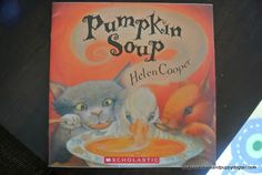 Pumpkin Soup: A Book Inspired Fall Sensory Table