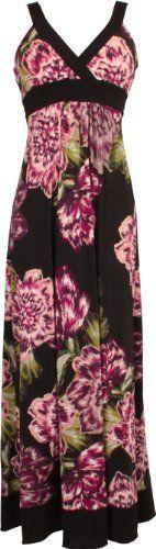 Purple Floral Print Maxi Dress JR Plus Size