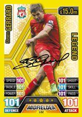 Steven Gerrard legend card