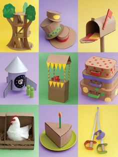 These Cardboard art projects from FamilyFun are already circled in our magazine as potential summer projects.
