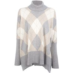 BALLANTYNE VINTAGE argyle sweater ($425) ❤ liked on Polyvore featuring tops, sweaters, cashmere argyle sweater, cashmere sweater, vintage sweaters, loose fitting tops and pure cashmere sweaters