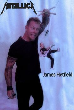 James Hetfield from Metallica sure did like his Darrionette! www.darrionettes.com https://www.facebook.com/Darrionettes