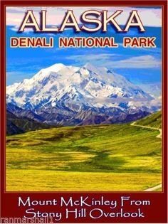 Denali-National-Park-Alaska-United-States-America-Travel-Advertisement-Poster-2
