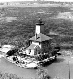 Light house in bay city