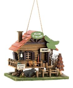Look at this Vacation Cabin Birdhouse on #zulily today!