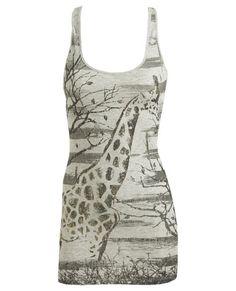 Stripe Giraffe Tank - Teen Clothing by Wet Seal :  wet seal casual top