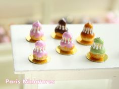 Religieuse a la rose   French Pastry in 12th by ParisMiniatures, $18.00