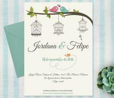 Convite de casamento passarinhos :D