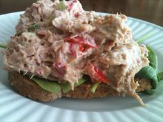 Greek Yogurt Tuna Salad 1 can Tuna in water, drained1 radish, shredded3 TBS red pepper, diced1 celery stalk, diced1 TBS Horseradish Mustard (w/ zero sugar)1 TBS non-fat Greek yogurtA dash of lemon ...