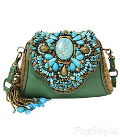 Mary Frances Monterey Blue Turqoise Green Bag Purse Handbag NEW Spring 2014 Mary Frances Purses, Mary Frances Handbags, Kelly Bag, Beaded Purses, Beaded Bags, Fashion Bags, Fashion Accessories, Embroidered Bag, Vintage Purses