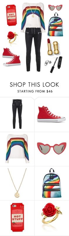 """The Rainbow Connection"" by thereclusiveblogger ❤ liked on Polyvore featuring Unravel, Converse, Marc Jacobs, Yves Saint Laurent, Bing Bang, Kate Spade, Disney Couture and Bobbi Brown Cosmetics"