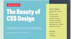 CSS Zen Garden: The Beauty of CSS Design