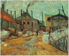 Vincent Van Gogh - The Factory, 1887 #arte