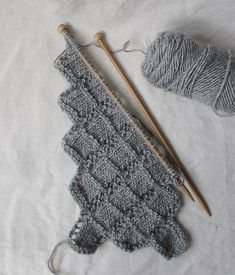 .point de tricot diagonale