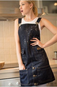 Handmade Canvas Apron Denim Apron Unisex by Bluesky118 on Etsy