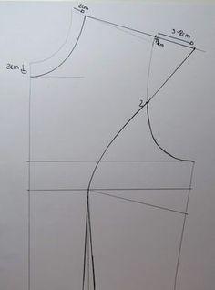 Dress Sewing Patterns, Clothing Patterns, Sewing Sleeves, Kids Dress Wear, Sewing Blouses, Pattern Cutting, Pattern Drafting, Handmade Dresses, Fashion Sewing
