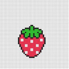Strawberry perler bead pattern