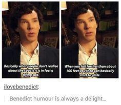 Benedict Cumberbatch attempts to explain how Sherlock survived the Reichenbach Fall. Sherlock Holmes Bbc, Sherlock Fandom, Sherlock John, Sherlock Humor, Watson Sherlock, Jim Moriarty, Sherlock Quotes, Johnlock, The Mentalist