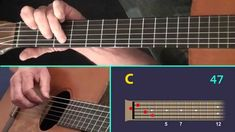 Unchained Melody - A Finger Style Guitar Lesson showing the Virtual Fret...