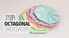 Origami Octagonal Tato / Origami Coaster Tutorial  DIY  #origami #paperkawaii