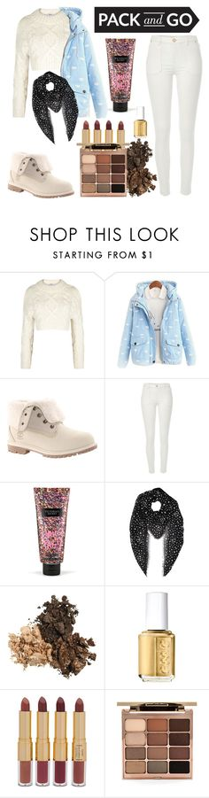 pack and go Winter by ❤ liked on Polyvore featuring DKNY, Timberland, River Island, Victoria's Secret, Yves Saint Laurent, Essie, tarte and Stila